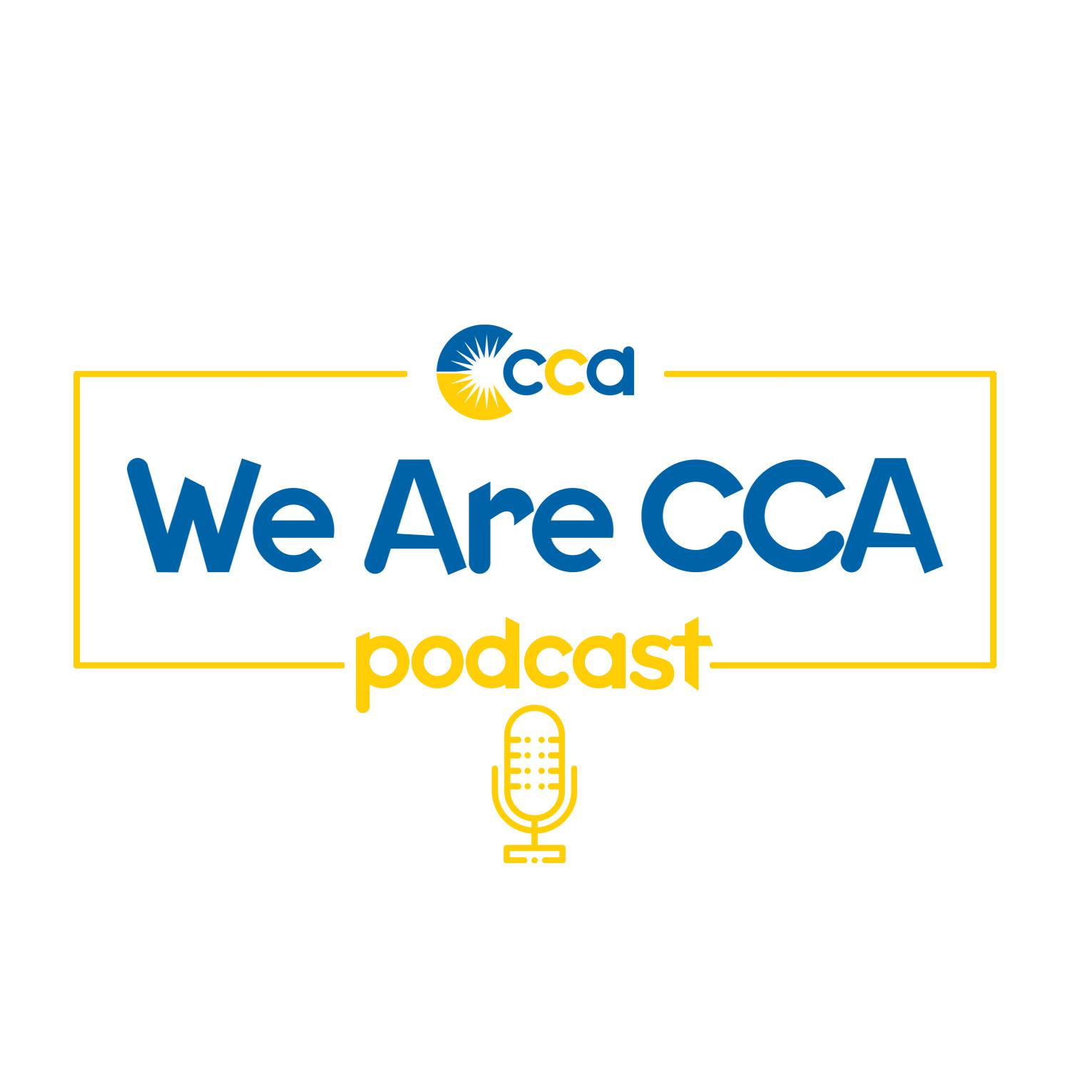 We Are CCA podcast logo