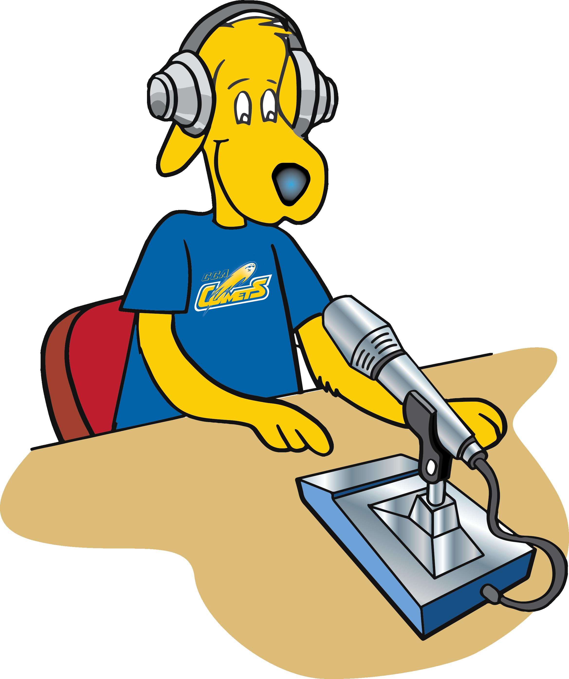 CCA's Comet the dog podcast logo