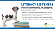 CCA recently held a literacy event where students took turns reading aloud to therapy dogs.