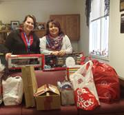 Marie Martin, a family involvement coordinator at Commonwealth Charter Academy based in Lackawanna County, gathers Christmas gifts for foster children each year.