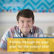 A veteran CCA students offers some advice for new cyber school students: Follow through on your plan for the school year.