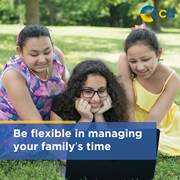 To make your student's experience at CCA successful, you should be flexible in managing your family's time.