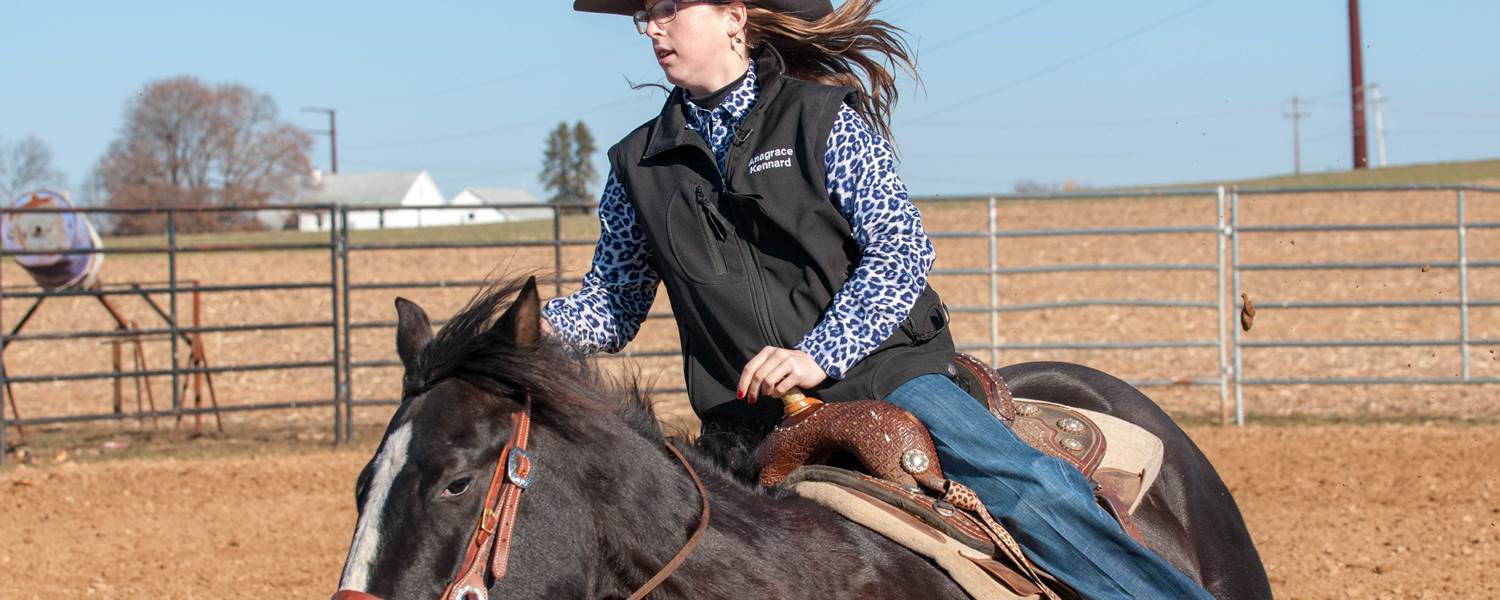 Anagrace Kennard, a CCA freshman, and her brother, Christian, have earned accolades on the rodeo circuit and will perform at this year's Farm Show in Harrisburg.