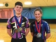 CCA freshman Nicholas Hoff of Reading and his sister, Neeli, a seventh-grader at CCA, are inline speedskaters, rising to the highest competitive levels in their age groups.
