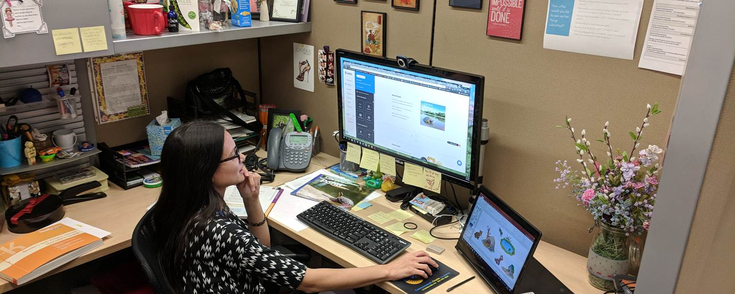Sarah Christman is a K-2 English Language Arts course designer at CCA. This year, she is creating lessons that will be part of edio, CCA's new learning management system, that will go into effect next school year.