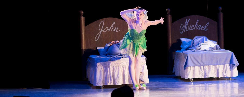 "CCA senior Lucia Erickson of Philadelphia performed as Tinker Bell in ""Peter Pan"" with The School of Pennsylvania Ballet."