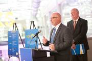 """Dr. Maurice """"Reese"""" Flurie, CEO of CCA, speaks at the unveiling."""