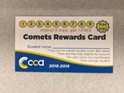Comet Card offers free field trip to students who attend nine field trips throughout the school year.