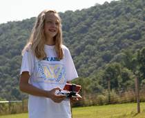 CCA student Ashley Heller of Duncannon learned how to fly drones during the summer camp taught by Chris Bennett. Due to the popularity of the summer camp, CCA decided to turn the camp into a new club available to CCA students.