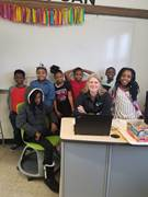 CCA teacher Jennifer Kellachow of Hershey travels once a month from Capital Campus in Harrisburg to provide in-person support to students in Philadelphia.