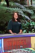 """CCA high school business teacher Kristen Andrews brings life lessons from """"Wheel of Fortune"""" appearance to her students."""